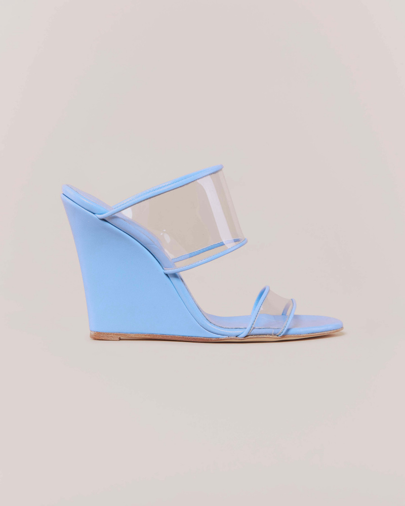 SANDALS WITH PVC STRAPS