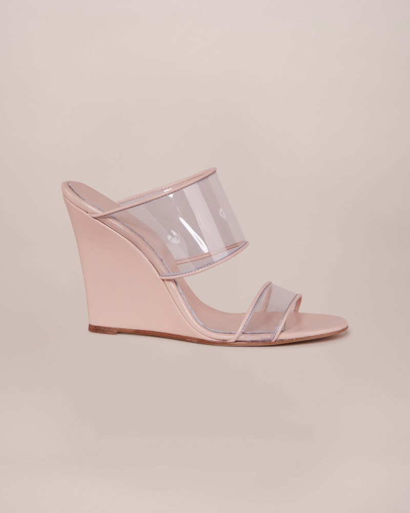 SANDALS WITH PVC STRAP