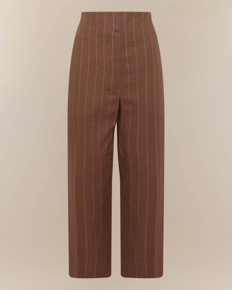 PINSTRIPED PATTERN TROUSERS