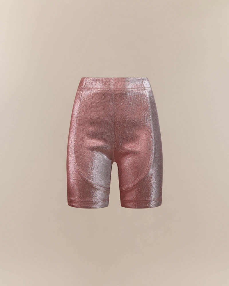 SHORTS IN LAMè