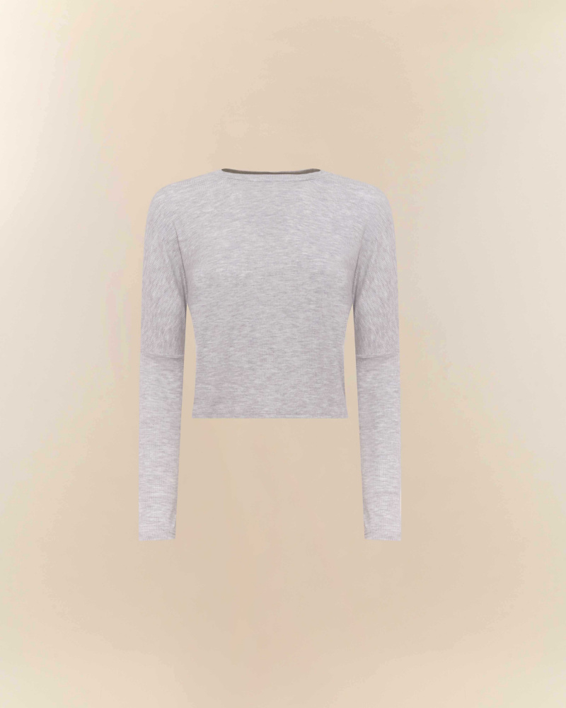 CROP TOP MANICHE LUNGHE