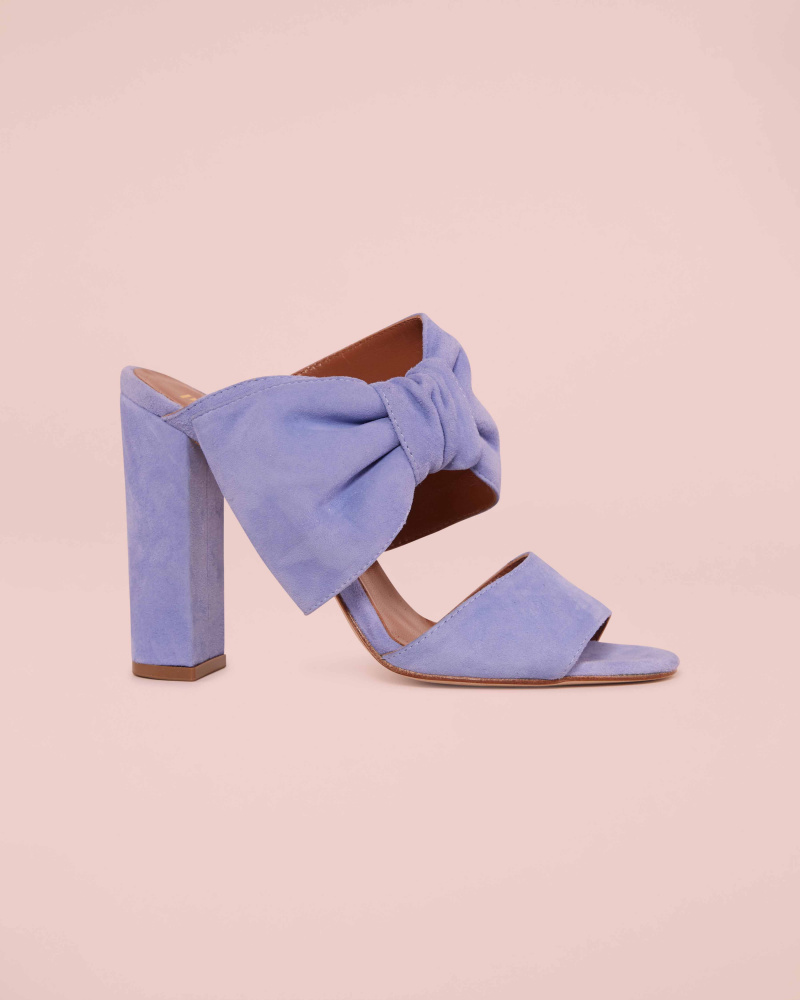 SUEDE MULES WITH BOW