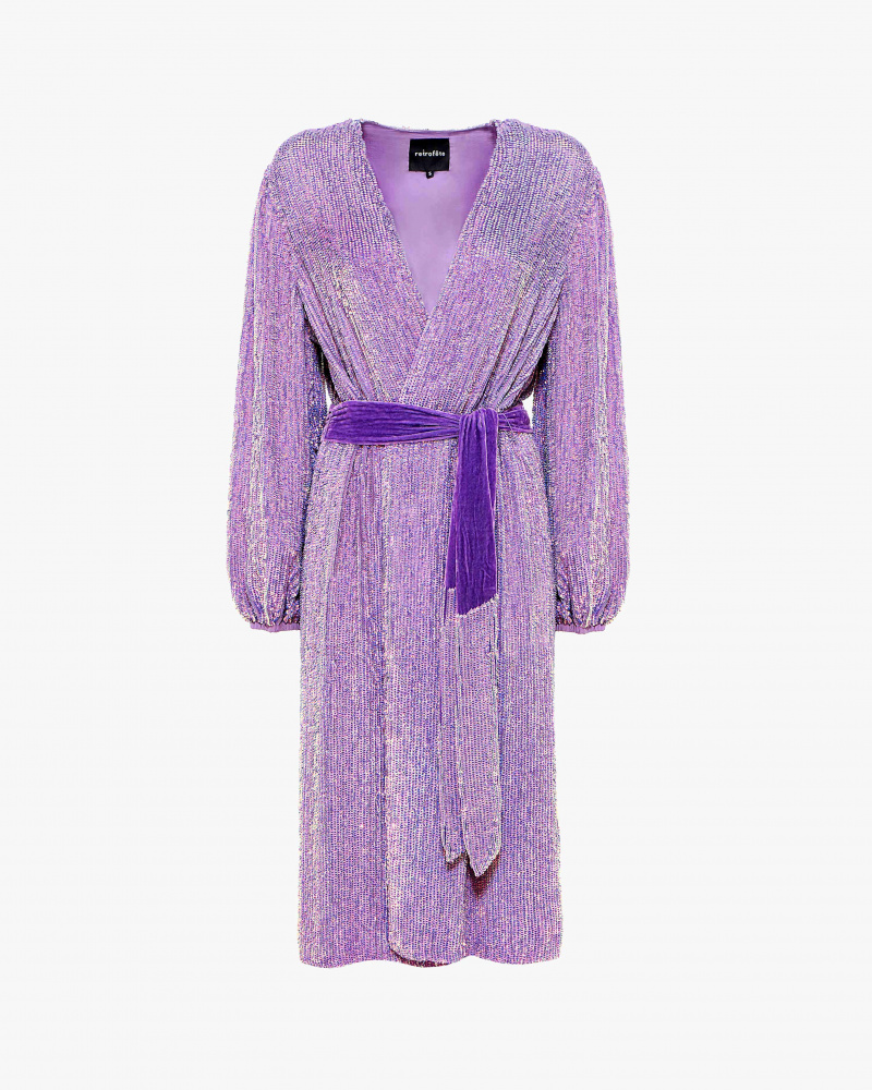 SEQUIN ROBE DRESS