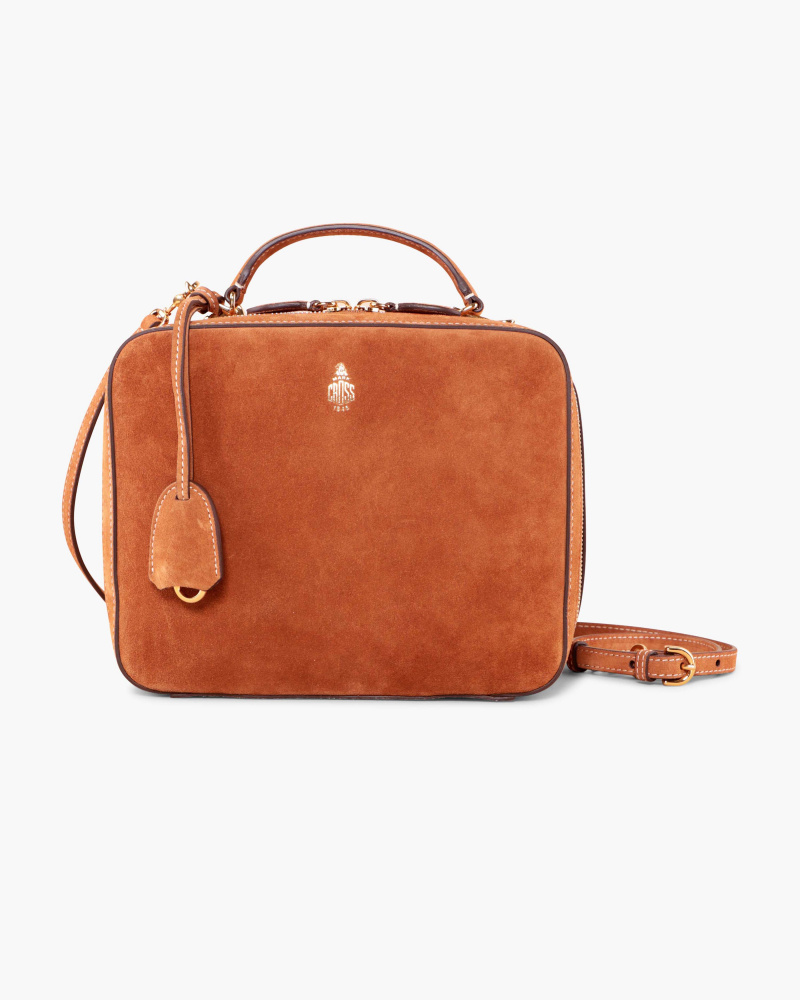 SUEDE LEATHER BAG WITH ZIP