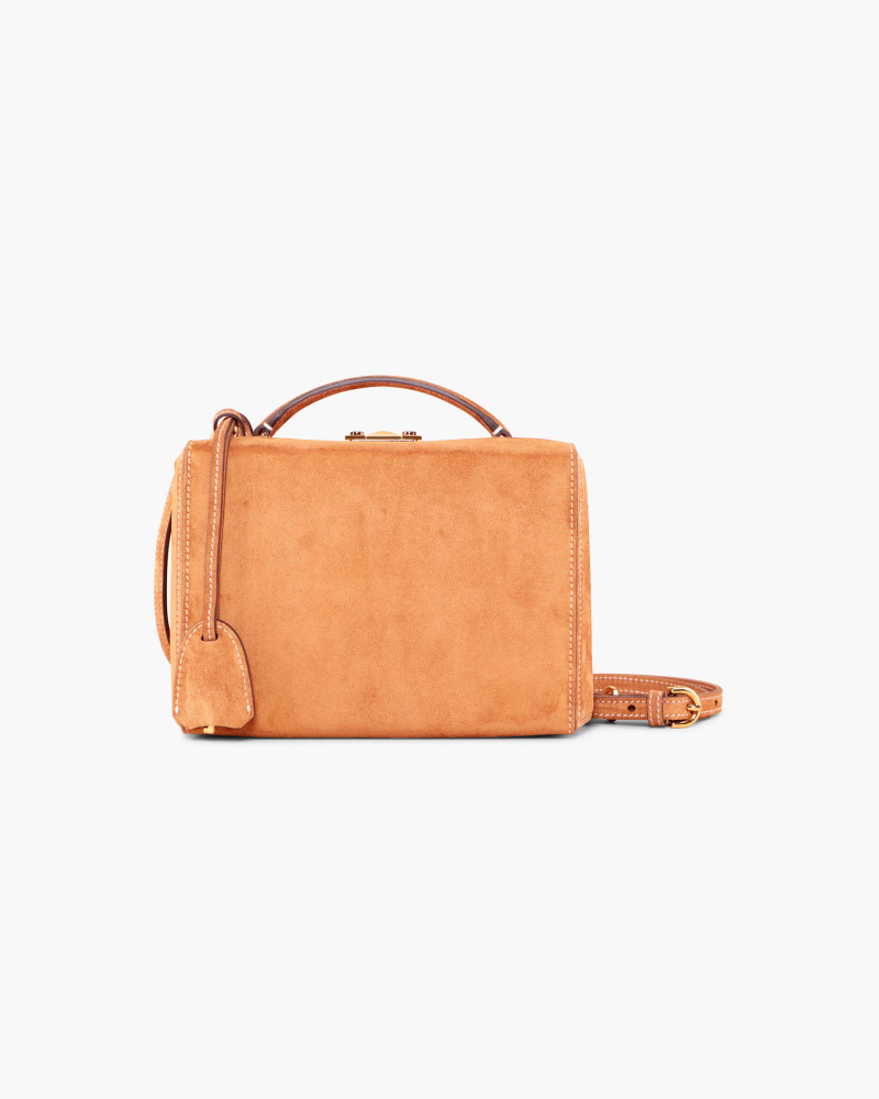 BORSA RIGIDA IN SUEDE