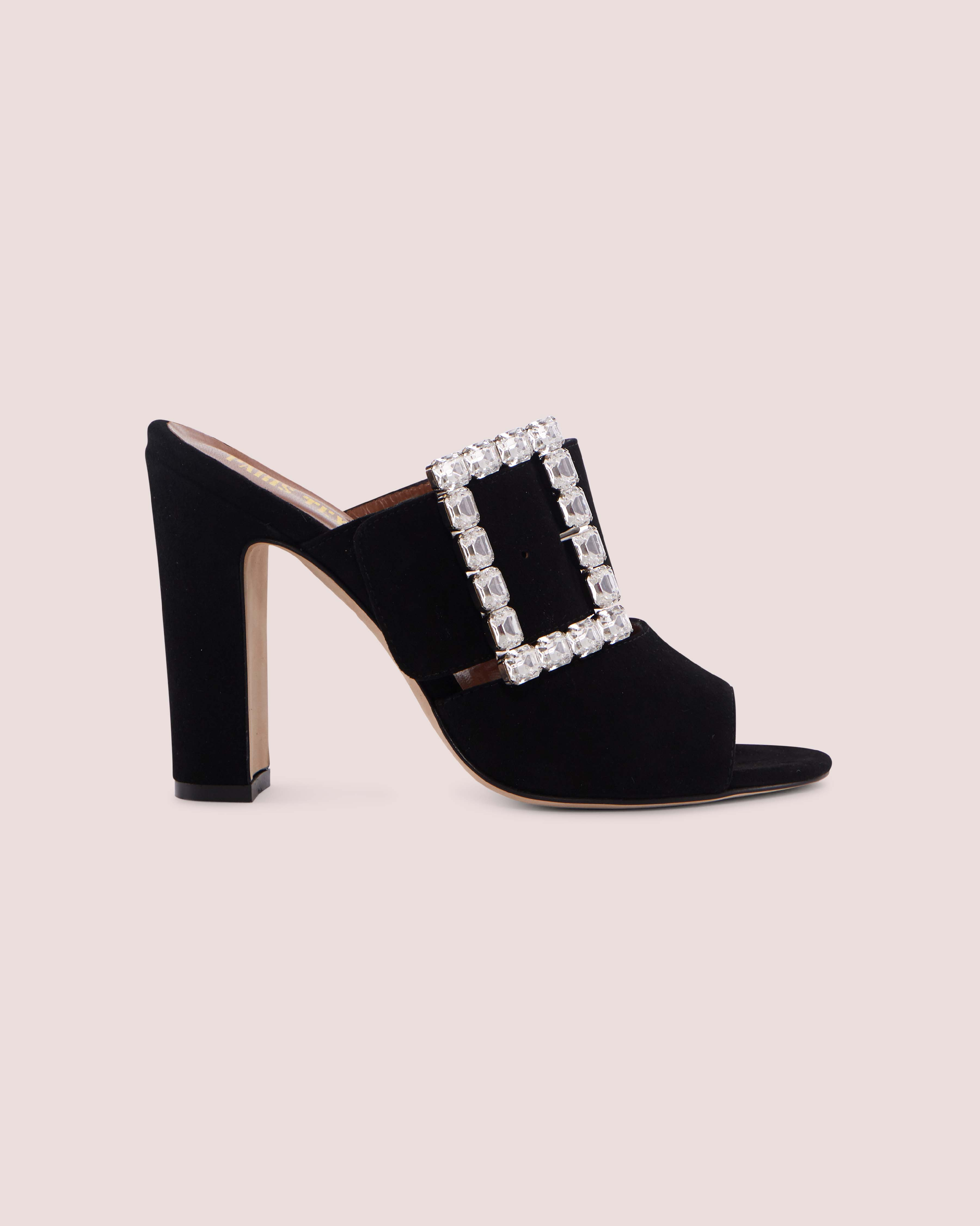CRYSTALS BUCKLE MULES