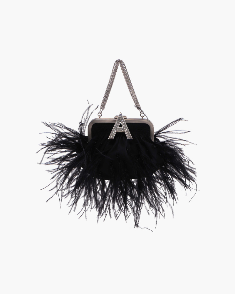 MINI BAG WITH FEATHERS