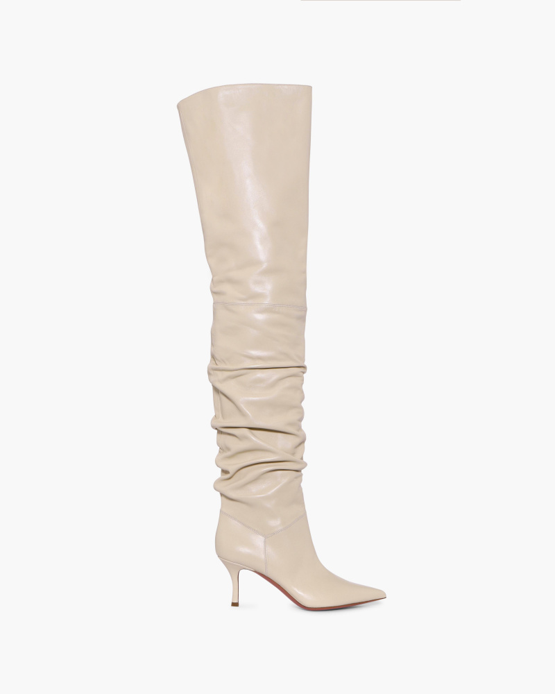 IVORY OVER-THE-KNEE BOOTS