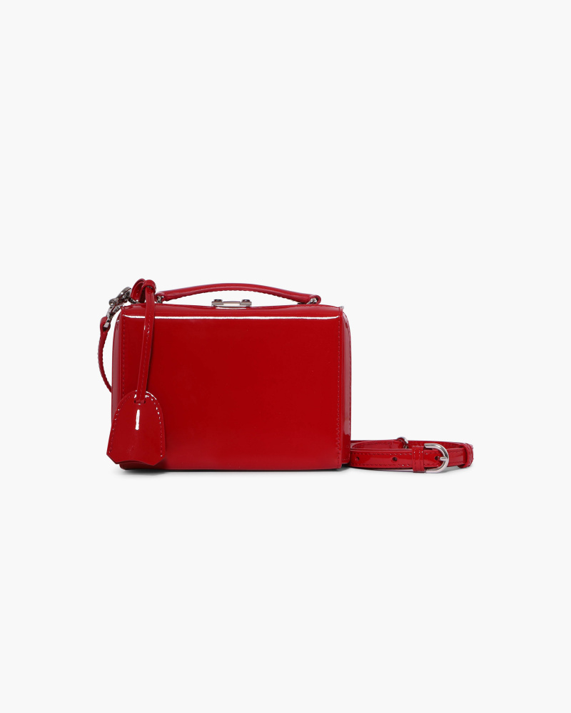 PATENT LEATHER BOX MINI BAG
