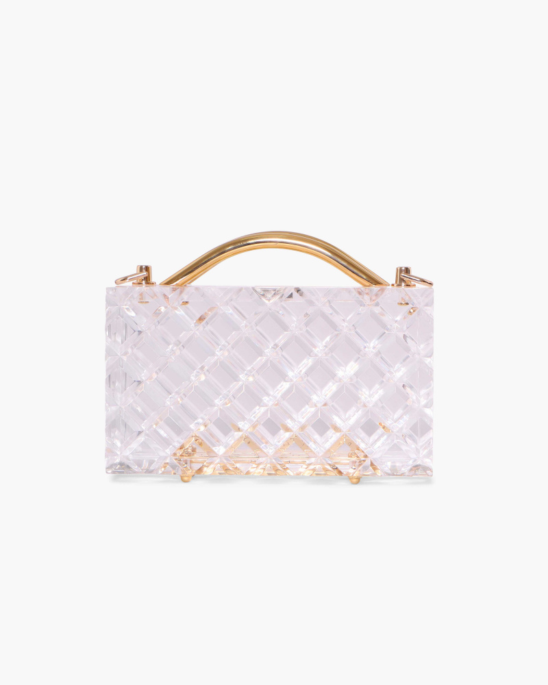ACRYLIC CLEAR CLUTCH