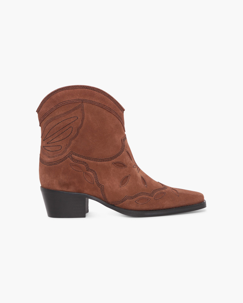 COWBOY BOOTIES WITH STITCHING