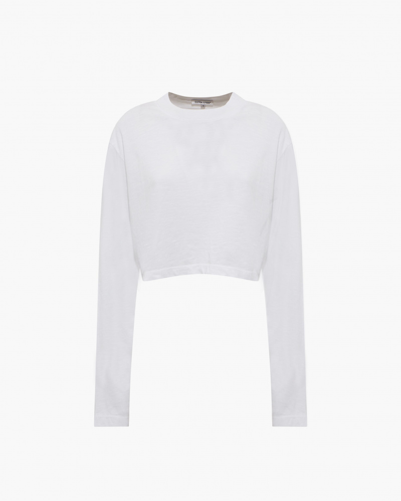 CROP T-SHIRT WITH LONG SLEEVES