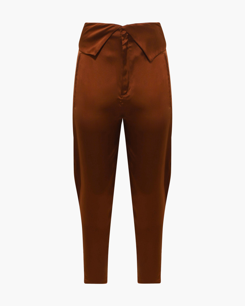 PANTALONI GAUCHO IN SATIN
