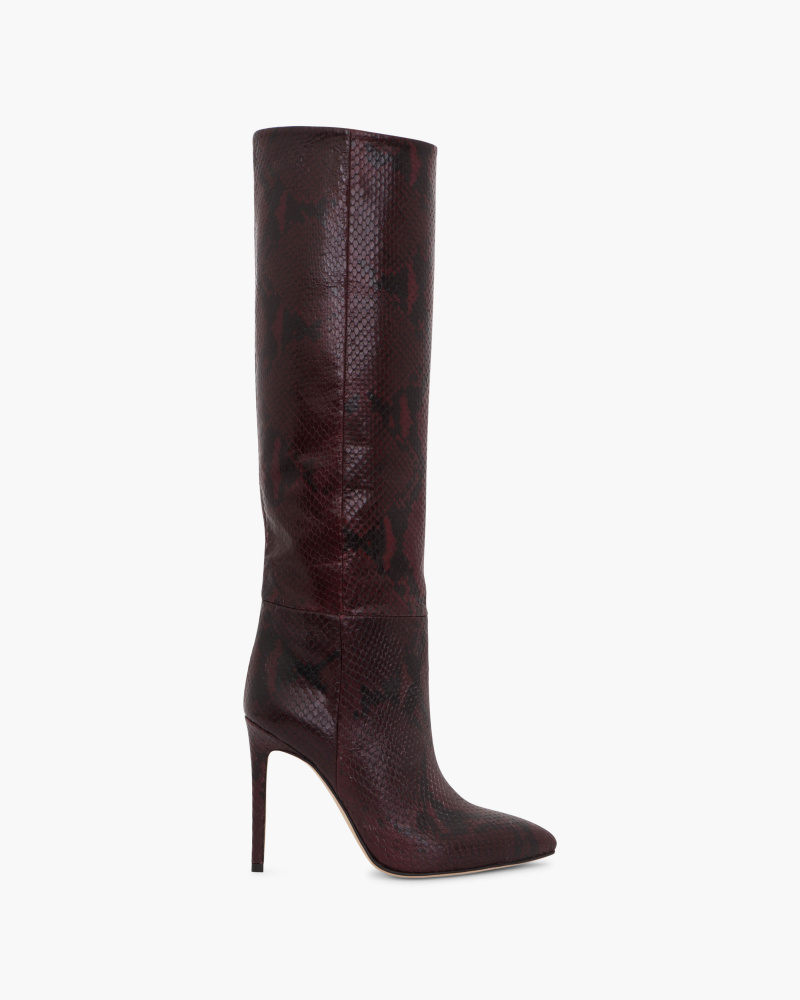 SNAKE EMBOSSED BOOTS