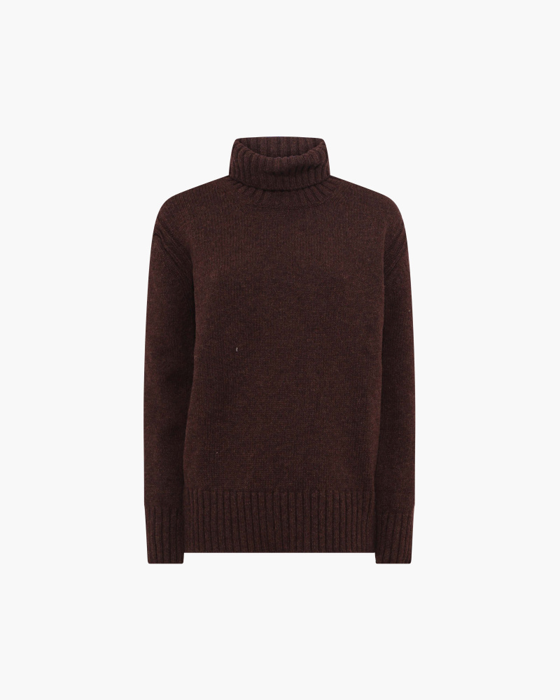 ROLL-NECK WOOL SWEATER