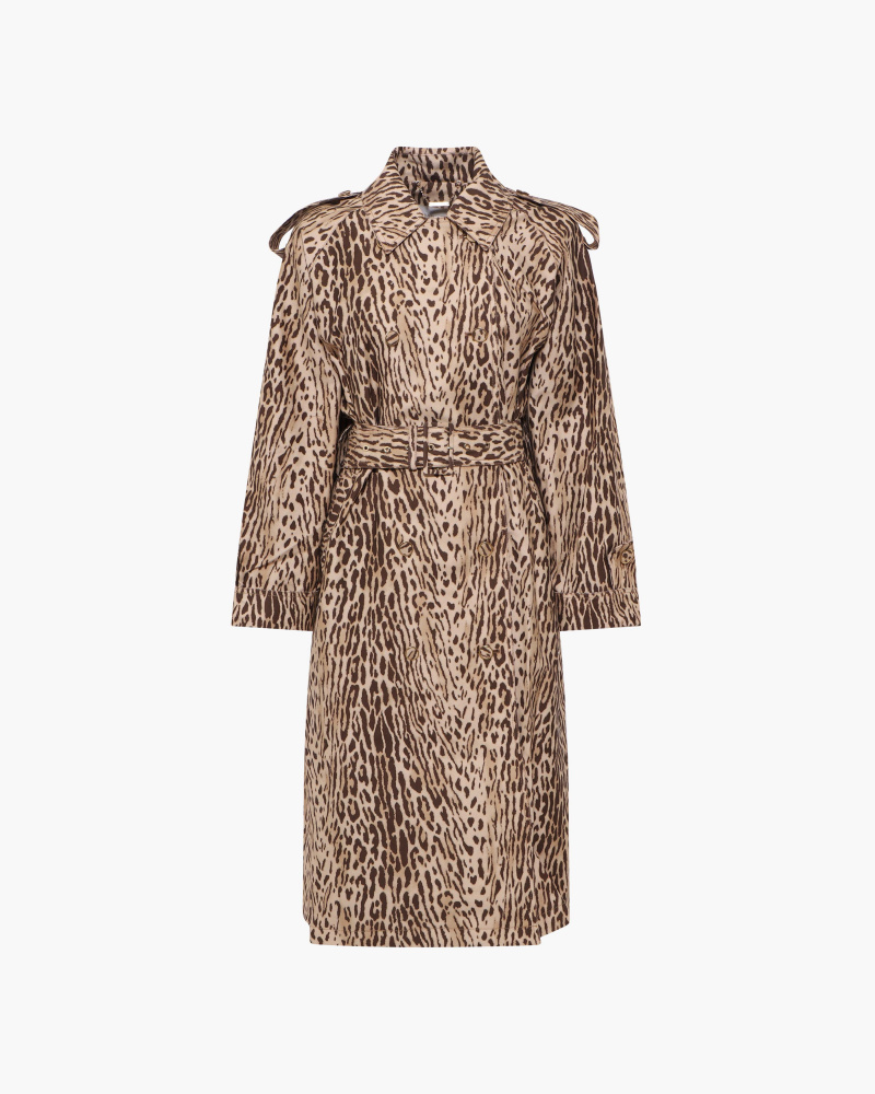 TRENCH STAMPA LEOPARD