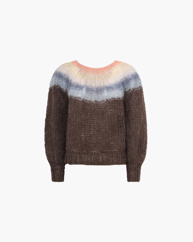 PLEATED MOHAIR SWEATER