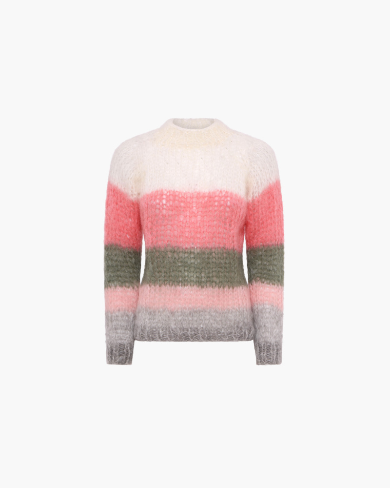 MAGLIA IN MOHAIR A RIGHE