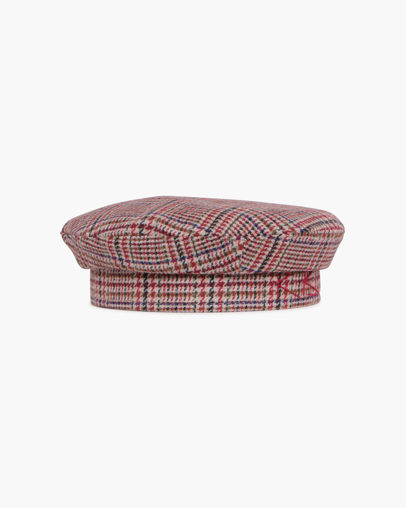BASQUE CHECKED WOOL HAT
