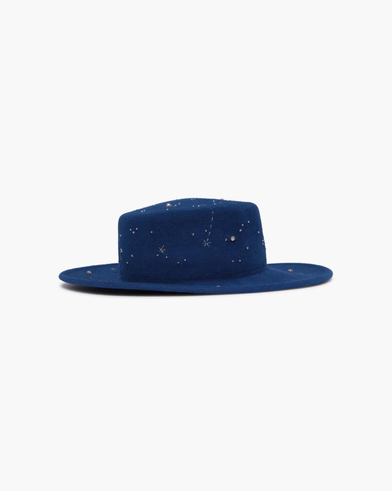 EMRBOIDERED WOOL HAT