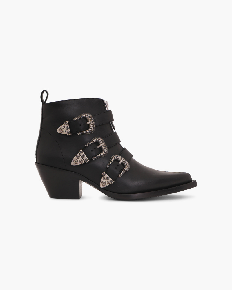 ANKLE BOOTIES WITH BUCKLES