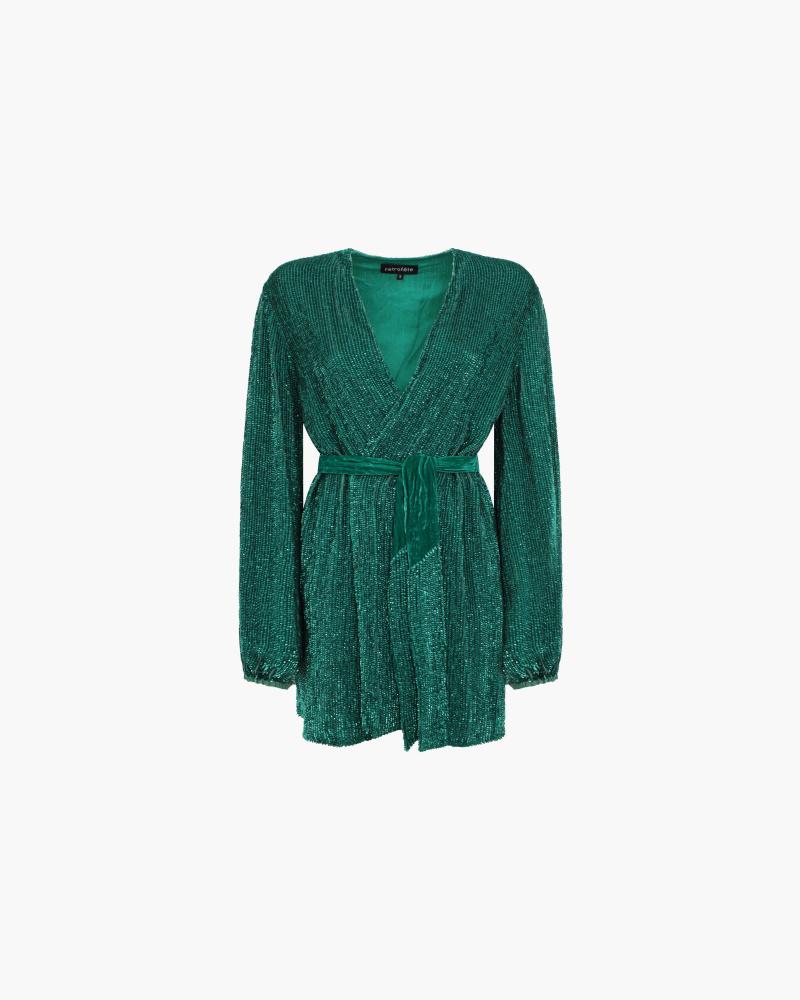 SEQUIN ROBE DRESS