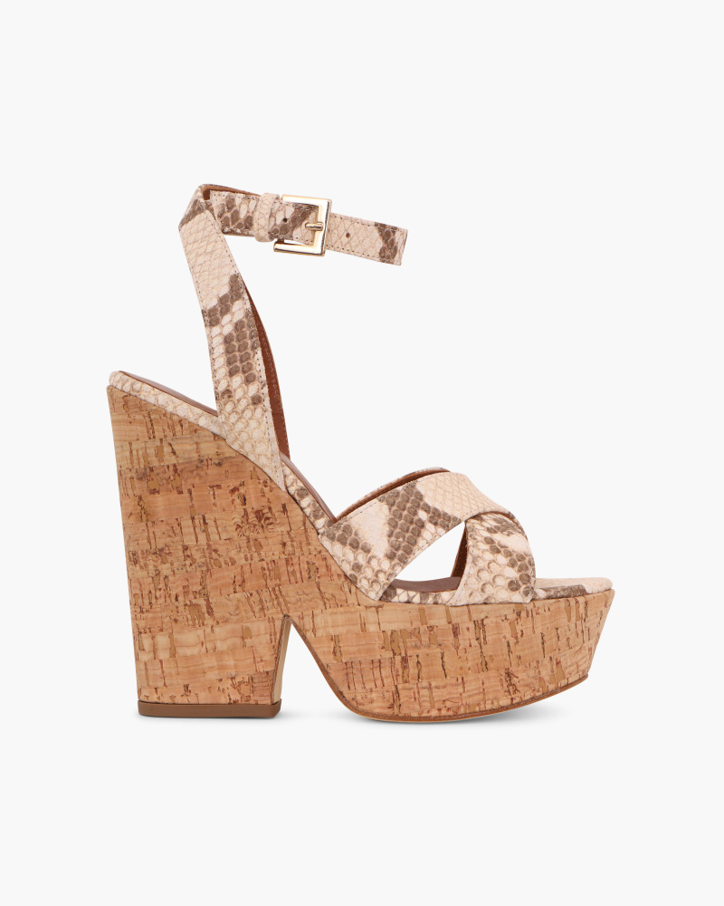 SANDALS WITH CORK WEDGE