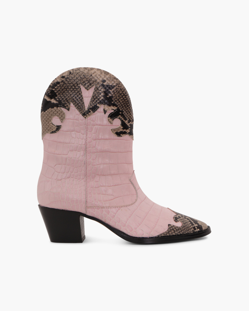 TWO-TONED COWBOY BOOTS