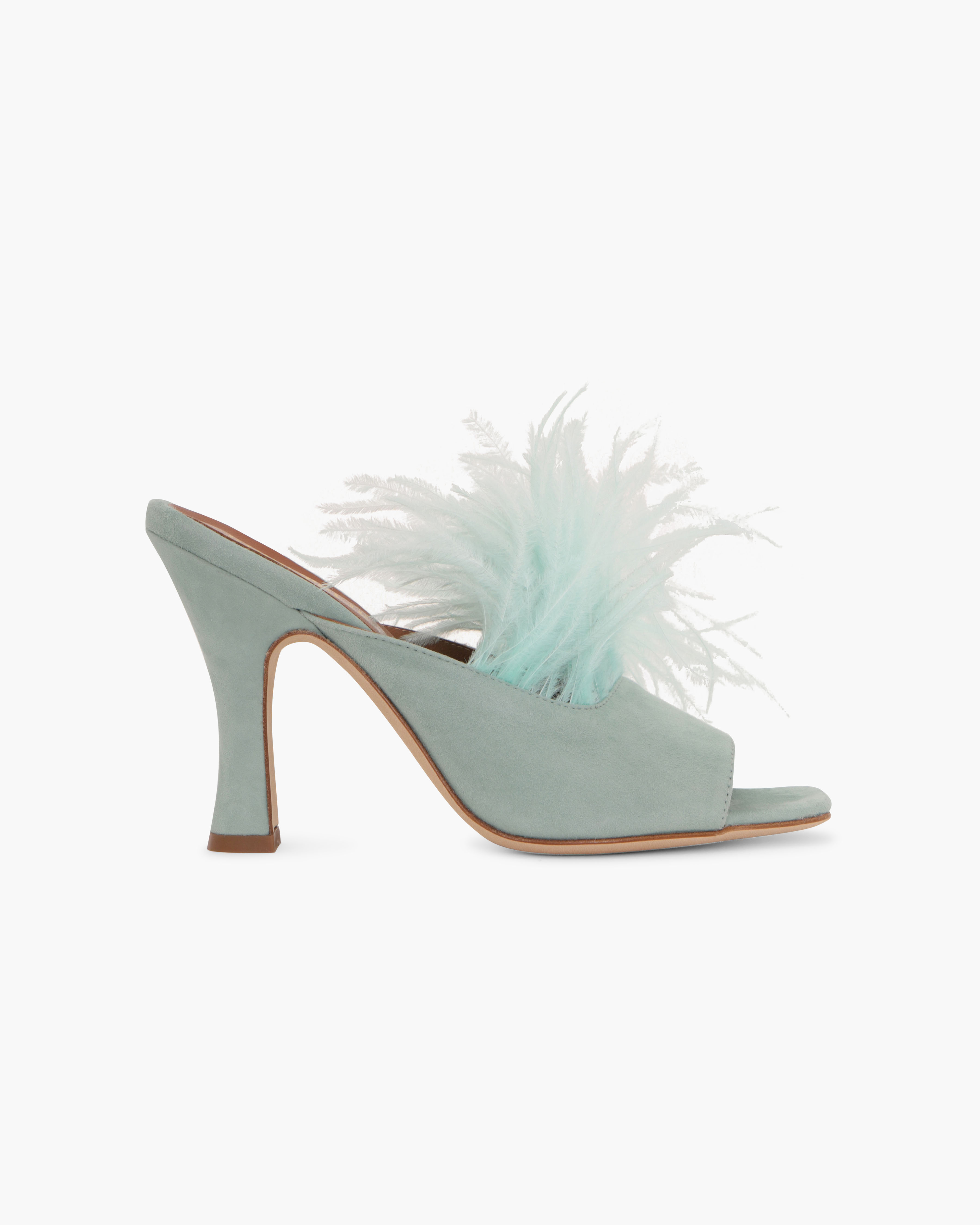 MULES WITH MARABOU FEATHERS