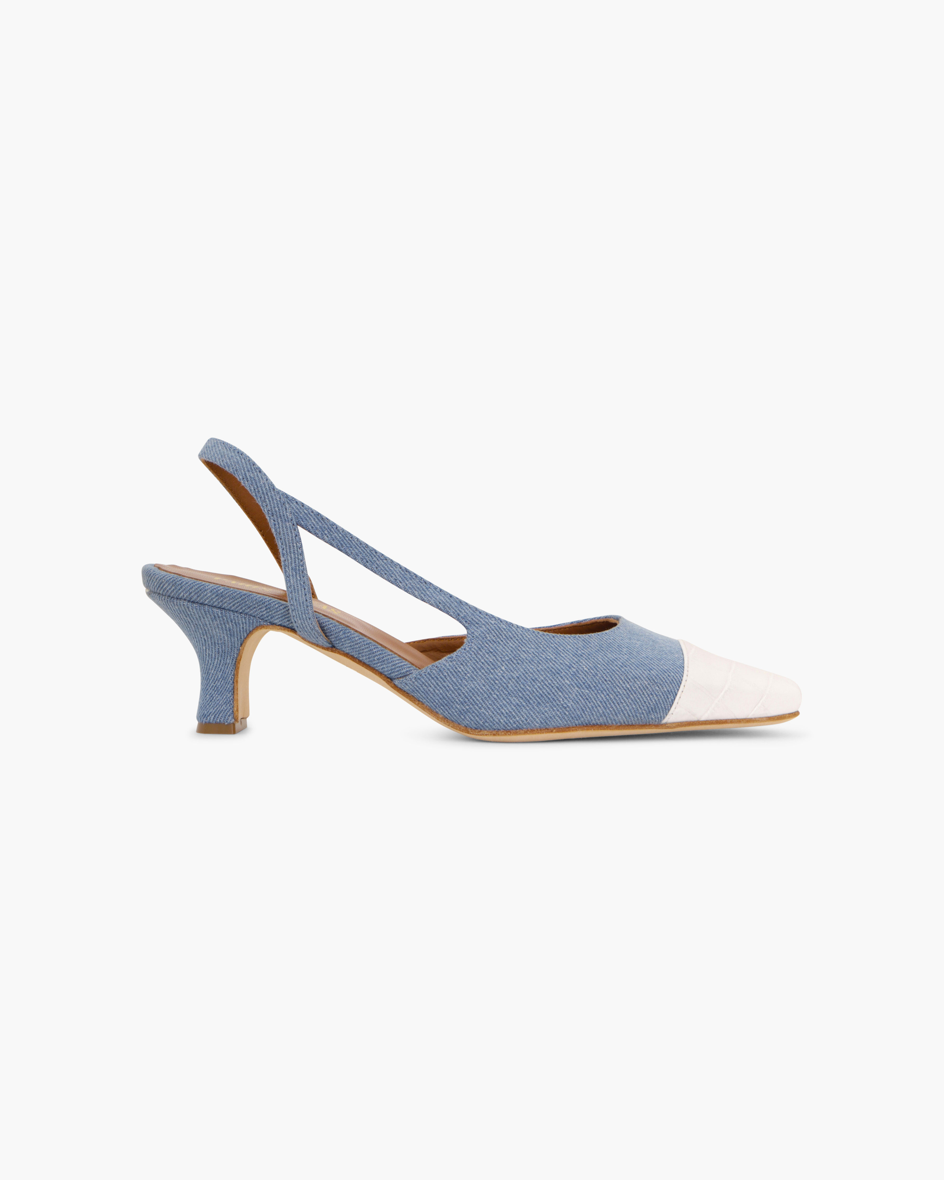 SLINGBACK IN DENIM