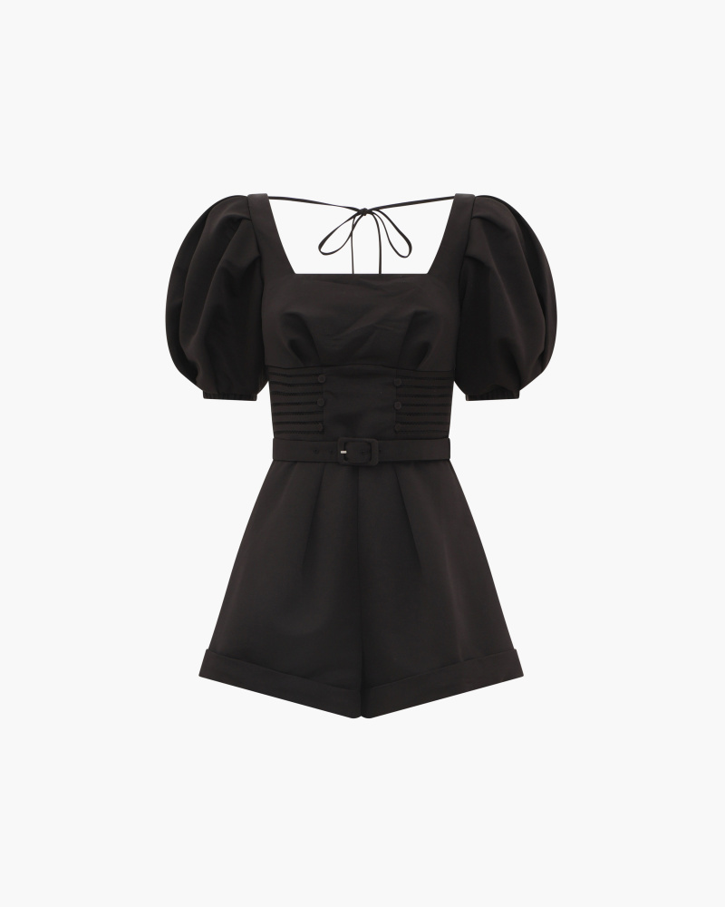 PLAYSUIT WITH PUFFED SLEEVES