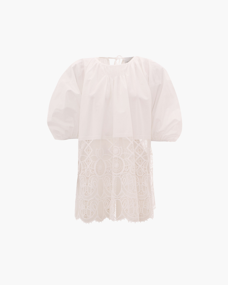 COTTON TOP WITH LACE DETAIL