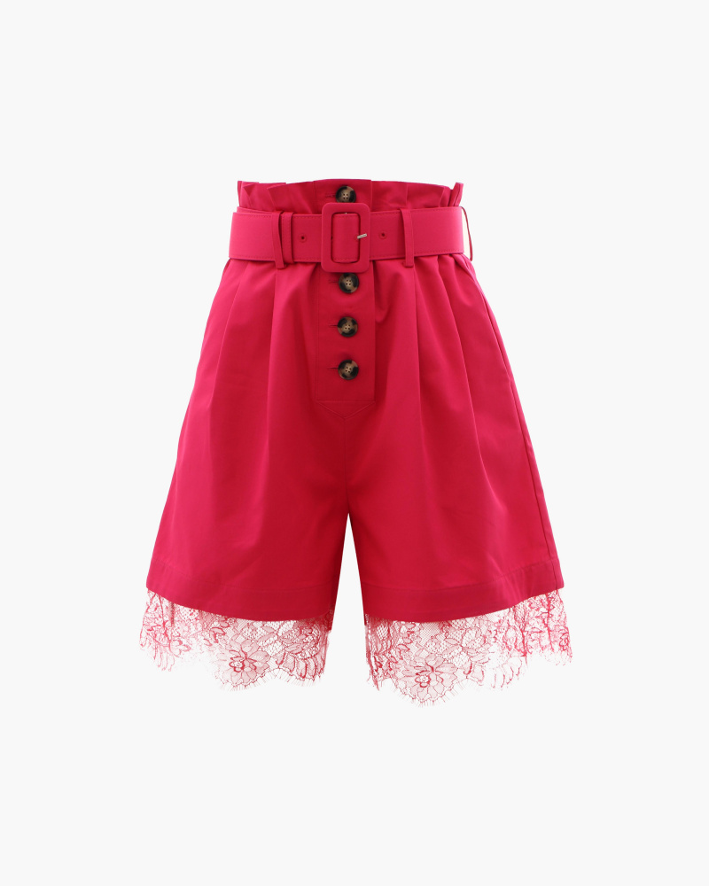 SHORTS WITH LACE DETAIL