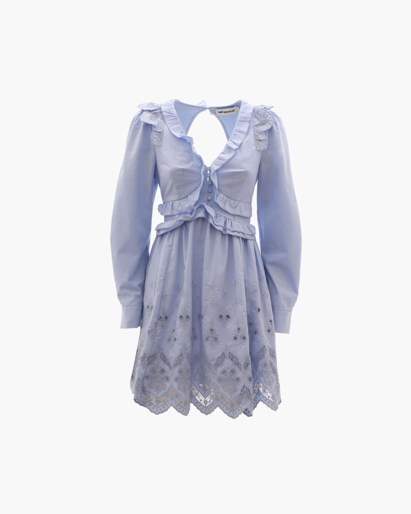 COTTON BRODERIE MINI DRESS