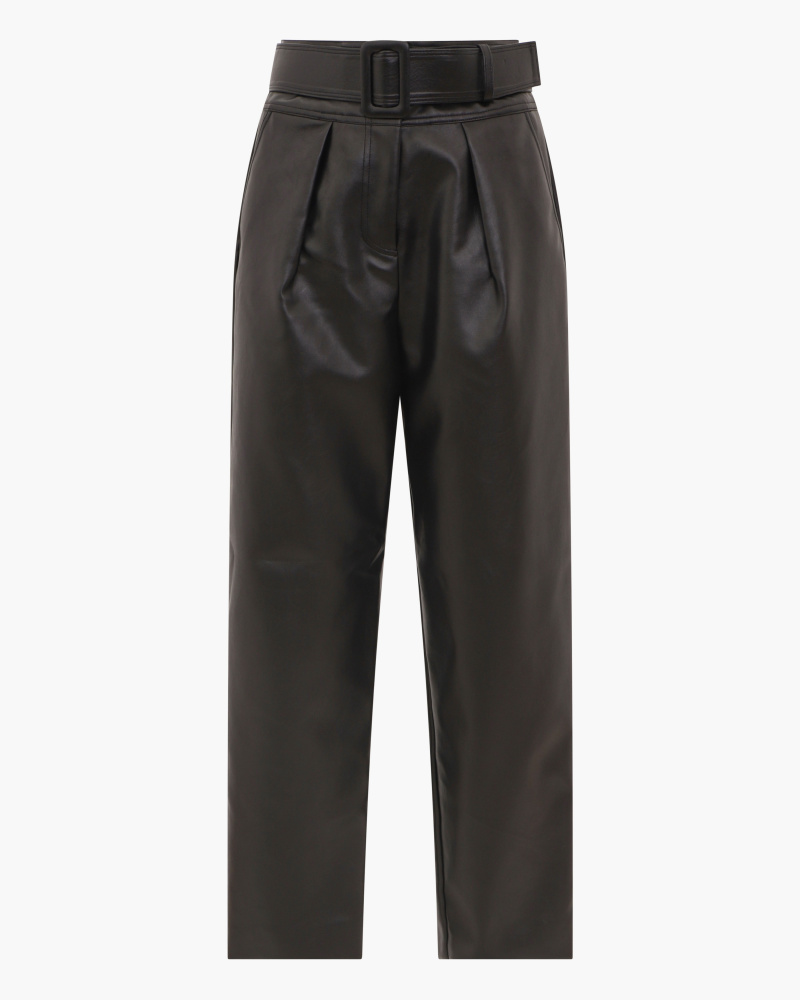 PANTALONI IN PELLE VEGAN