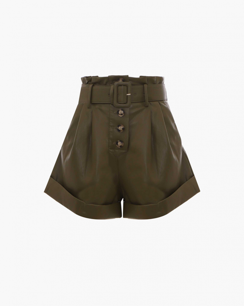 SHORTS IN PELLE VEGAN
