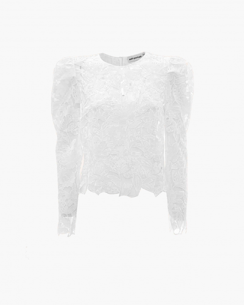 TOP IN PIZZO GUIPURE