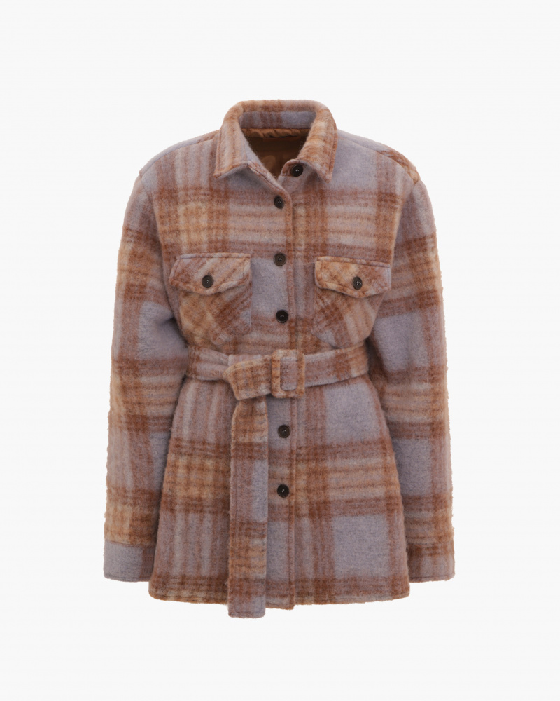 GIACCA OVERSIZE STAMPA CHECK