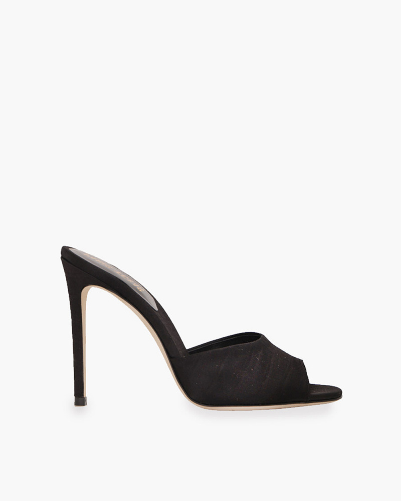 MULE IN SATIN STAMPA COCCO