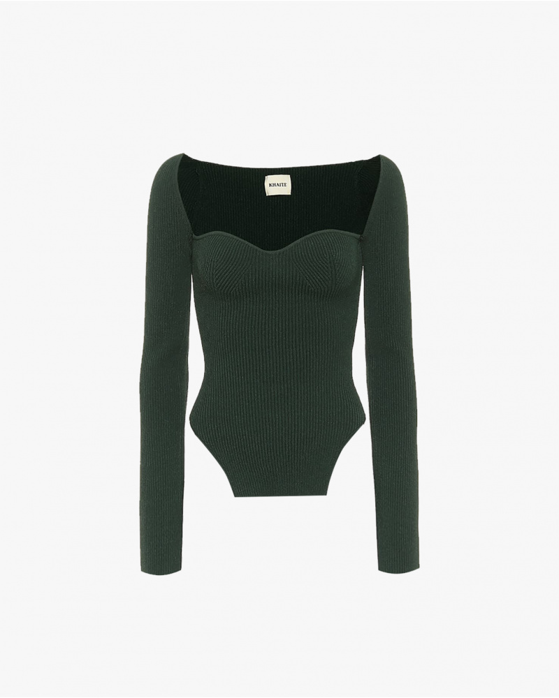 TOP BUSTIER IN MAGLIA