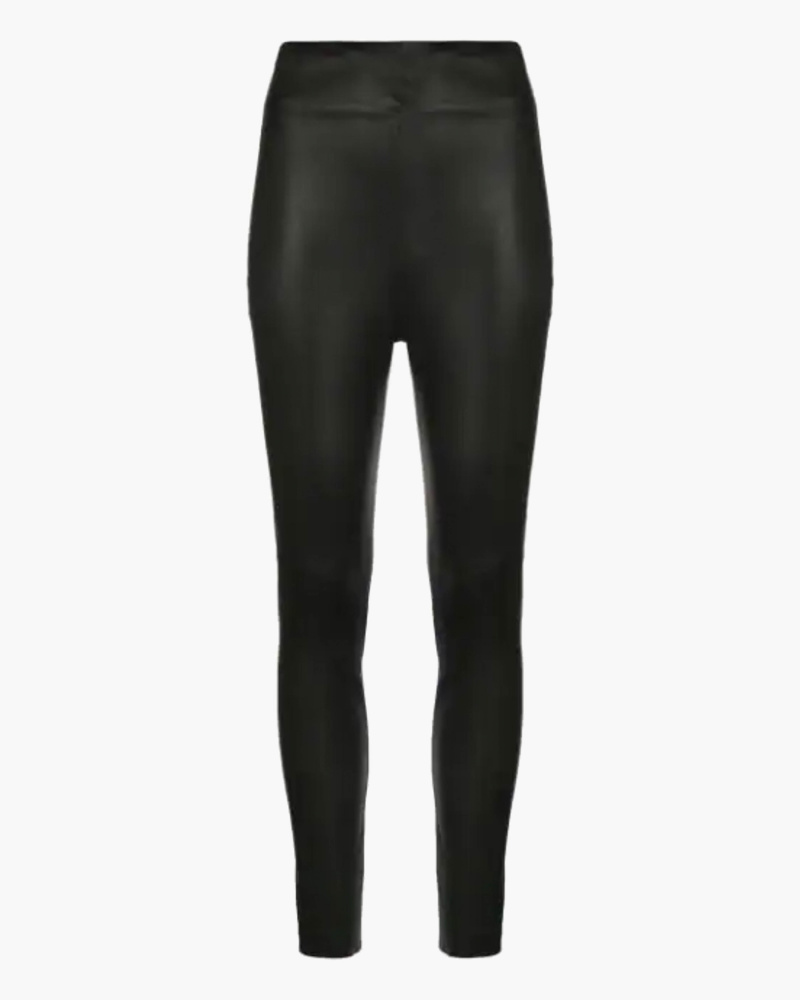 High wasted leather pants