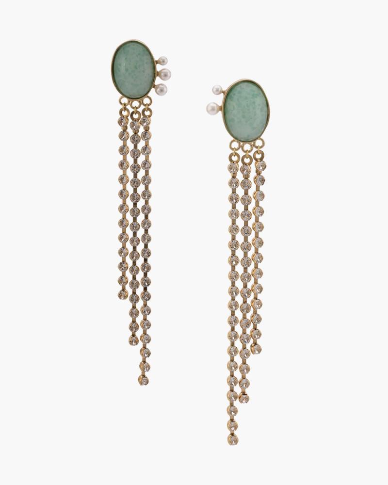 Dangling gem earrings