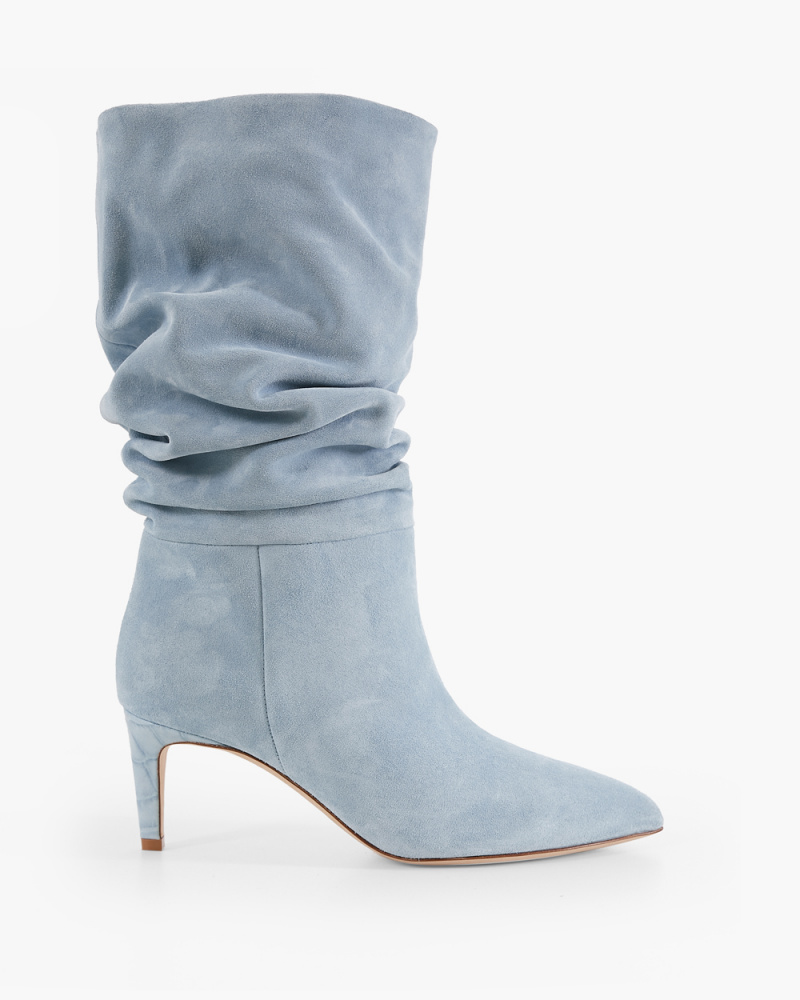 LIGHT BLUE SUEDE BOOTS