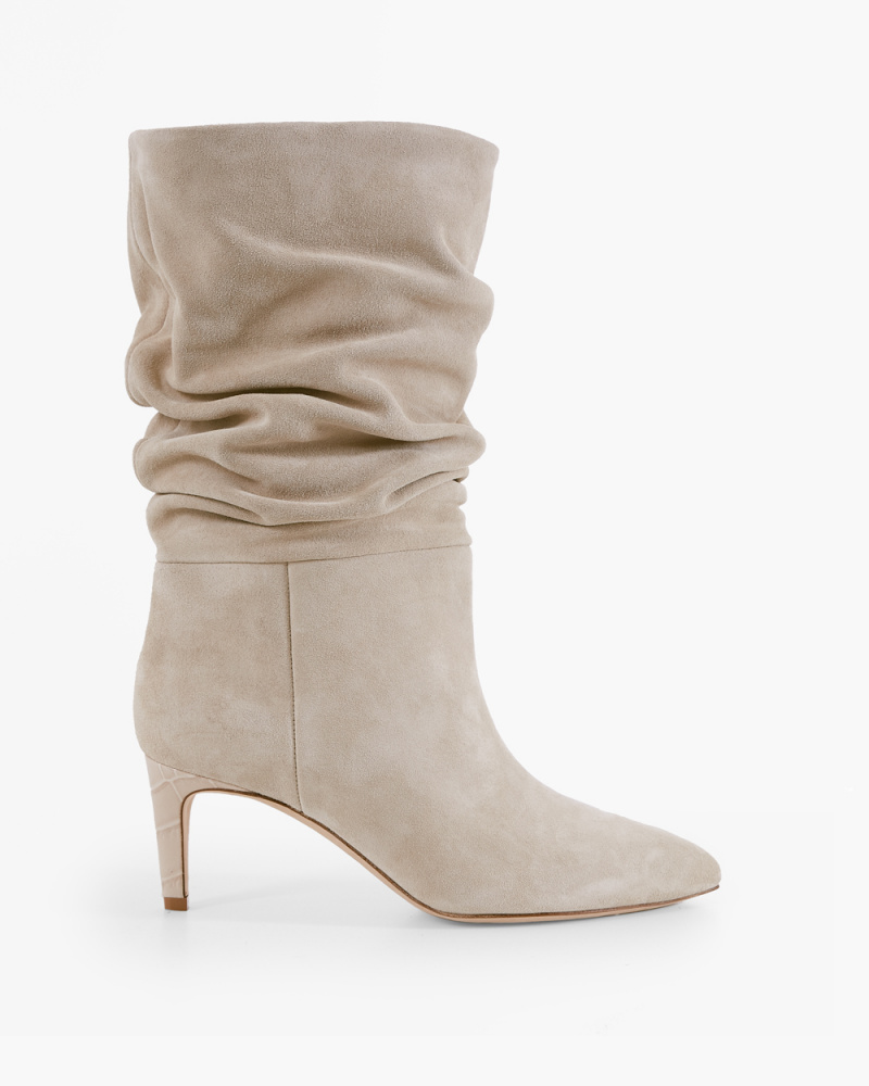 ANGORA SLOUCHY SUEDE BOOTS
