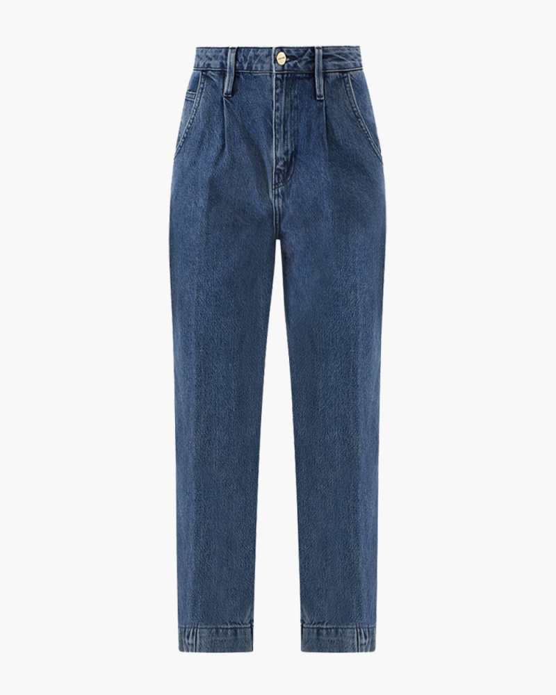 Pleated Barrel JEANS