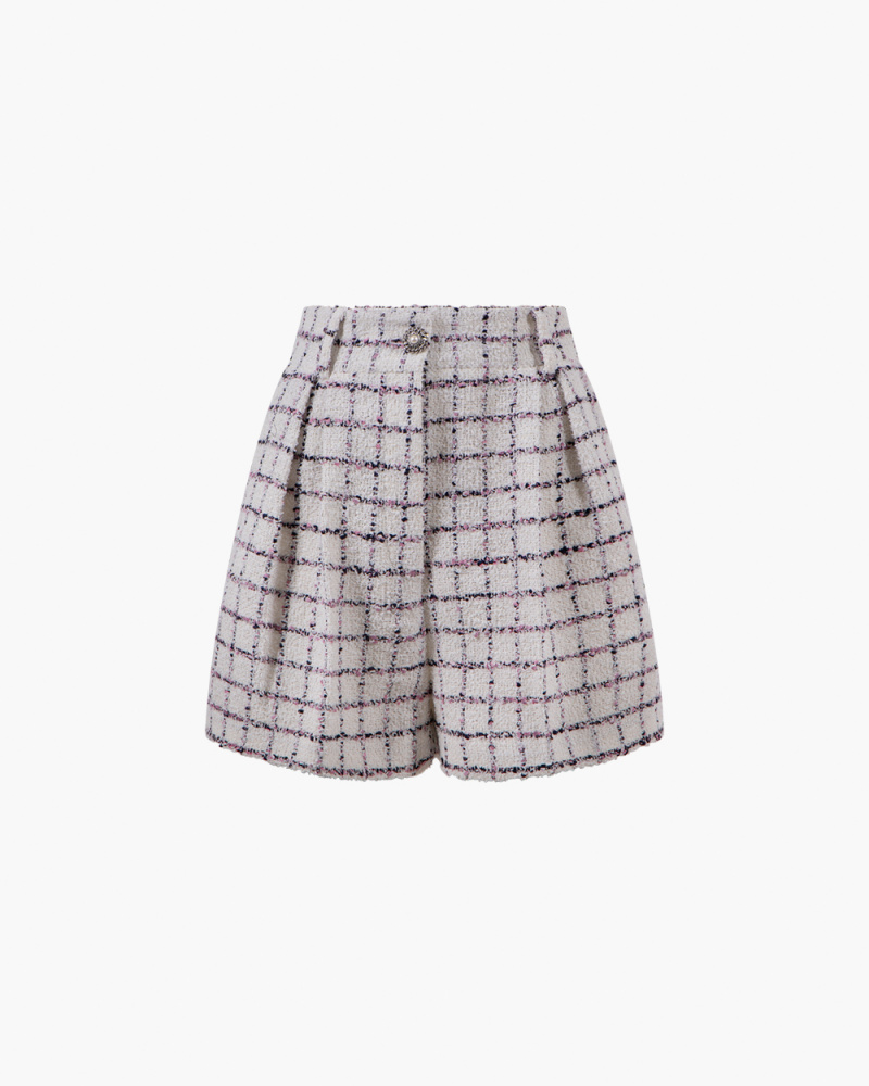 SHORTS IN TWEED DI COTONE