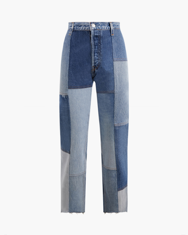 70S PATCHED JEANS