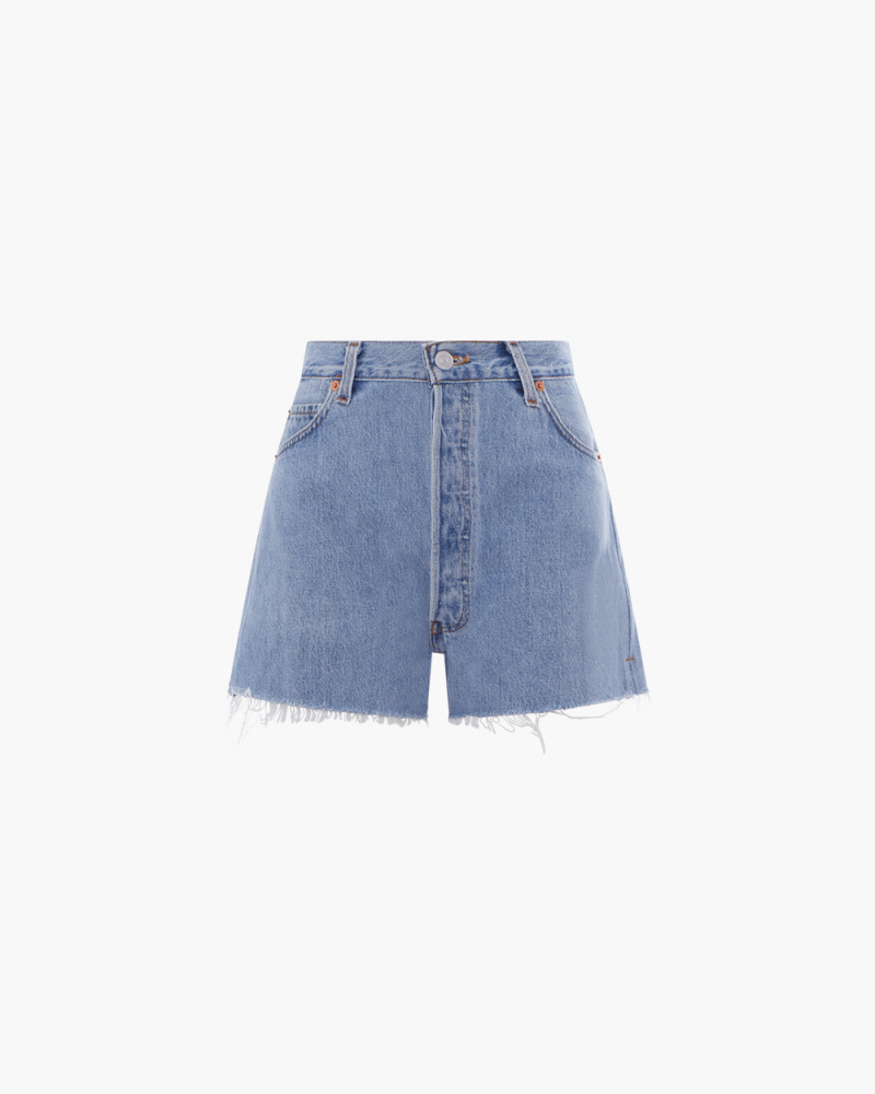SHORTS IN DENIM A VITA ALTA
