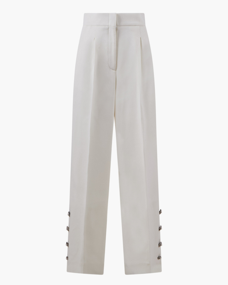 CREPE HIGH-RISE TROUSERS