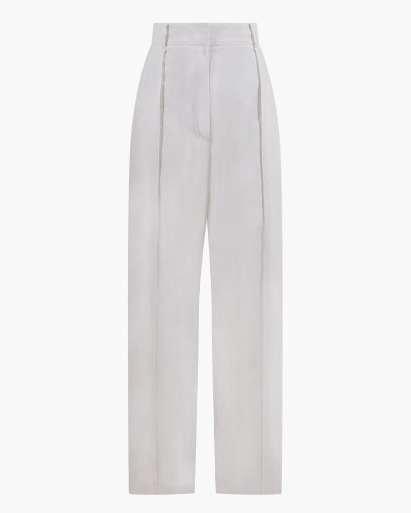 HIGH-RISE COTTON PANTS